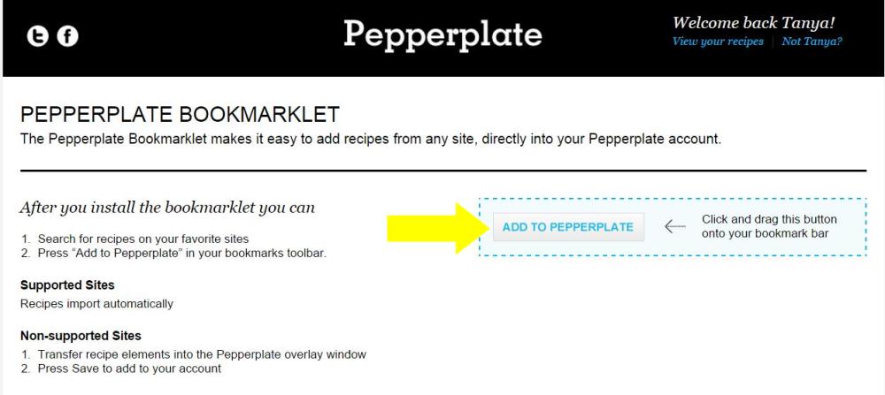 Pepperplate Bookmarklet 2