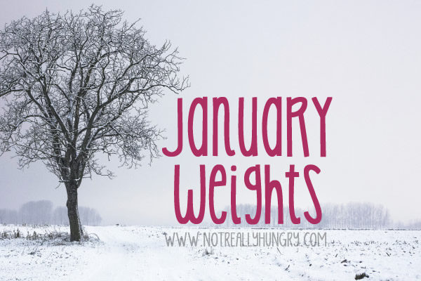 January Weights Year by Year