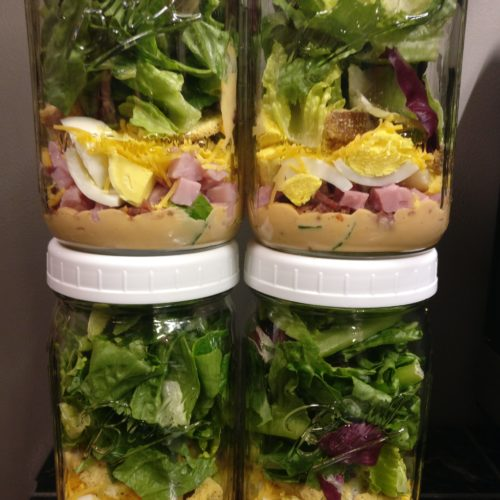 Mason Jar Chef Salads